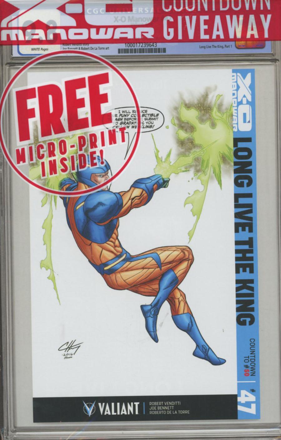 X-O Manowar Vol 3 #47 Cover D Variant Clayton Henry Valiatn x CGC Replica Cover