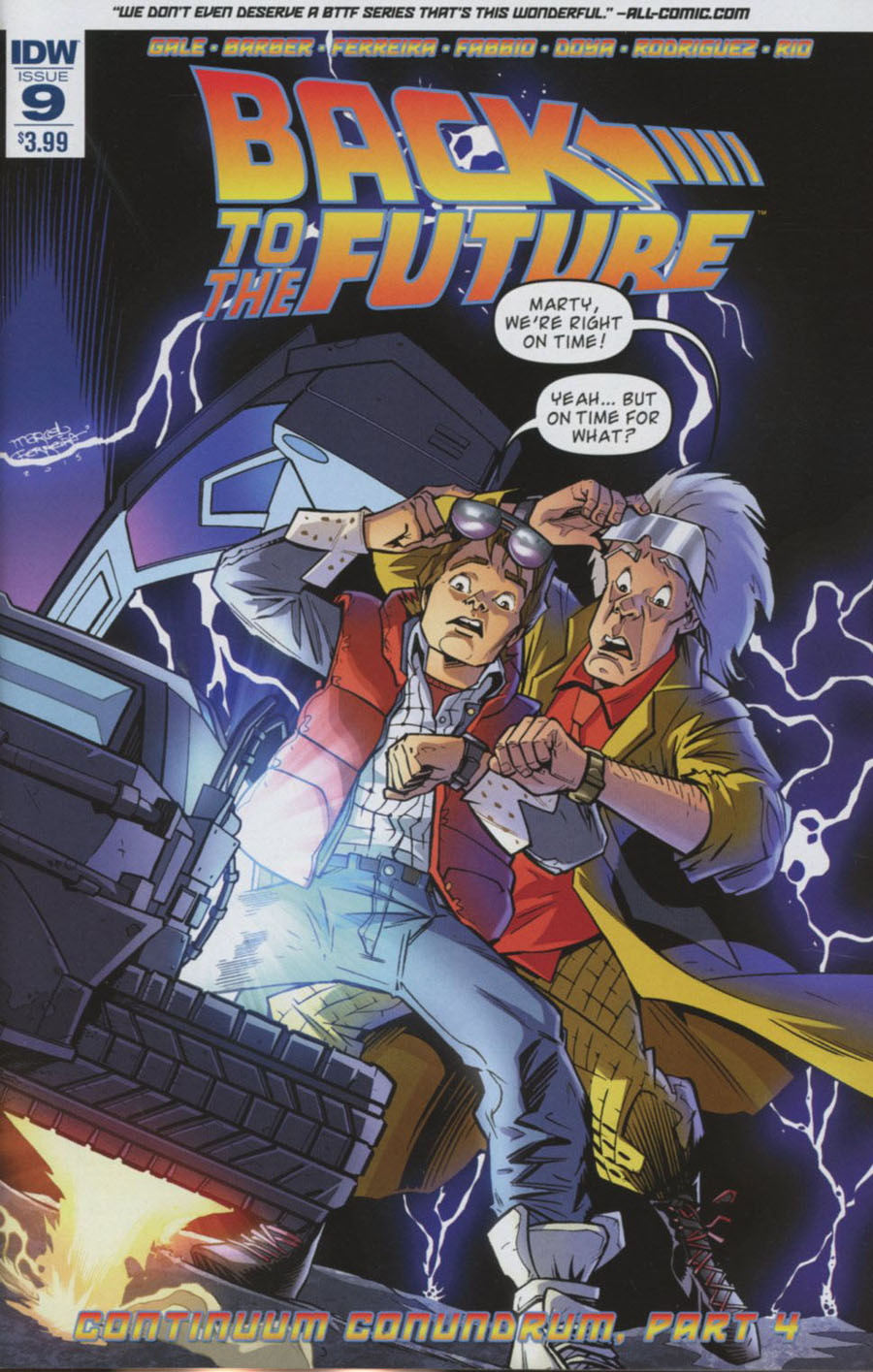 Back To The Future Vol 2 #9 Cover A Regular Marcelo Ferreira Cover