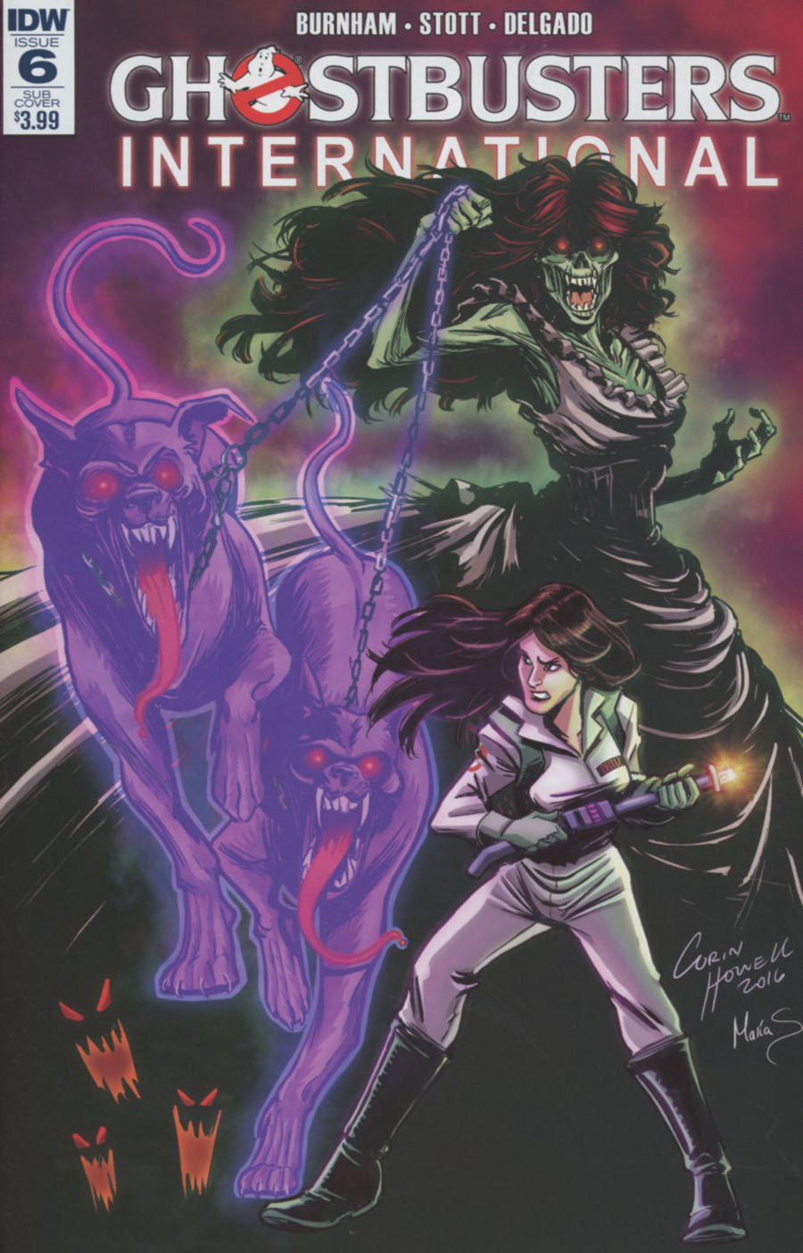 Ghostbusters International #6 Cover B Variant Corin Howell Subscription Cover