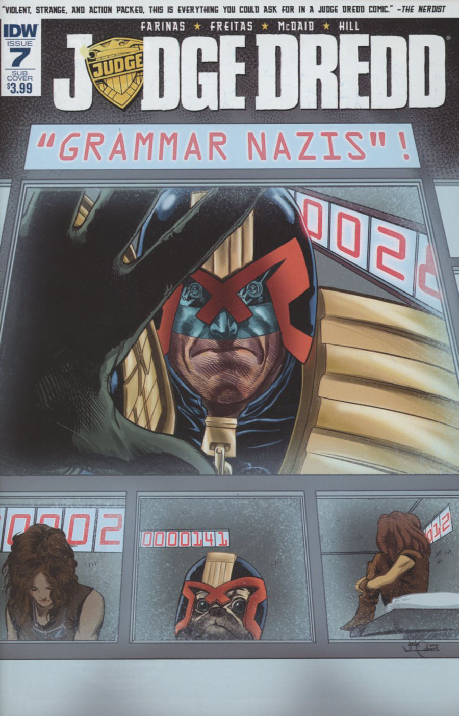Judge Dredd Vol 5 #7 Cover B Variant Josh Adams Subscription Cover