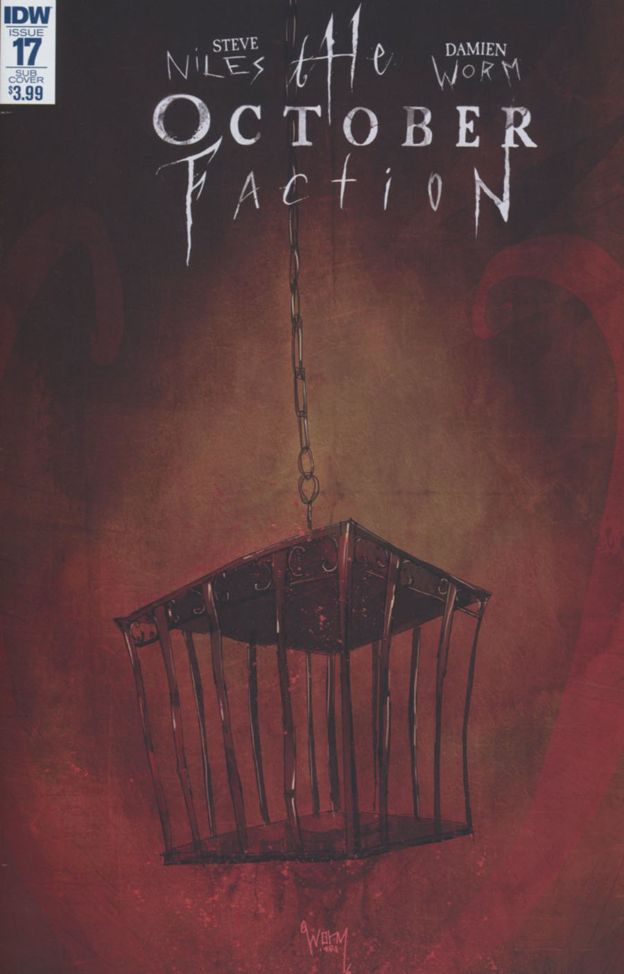 October Faction #17 Cover B Variant Damien Worm Subscription Cover