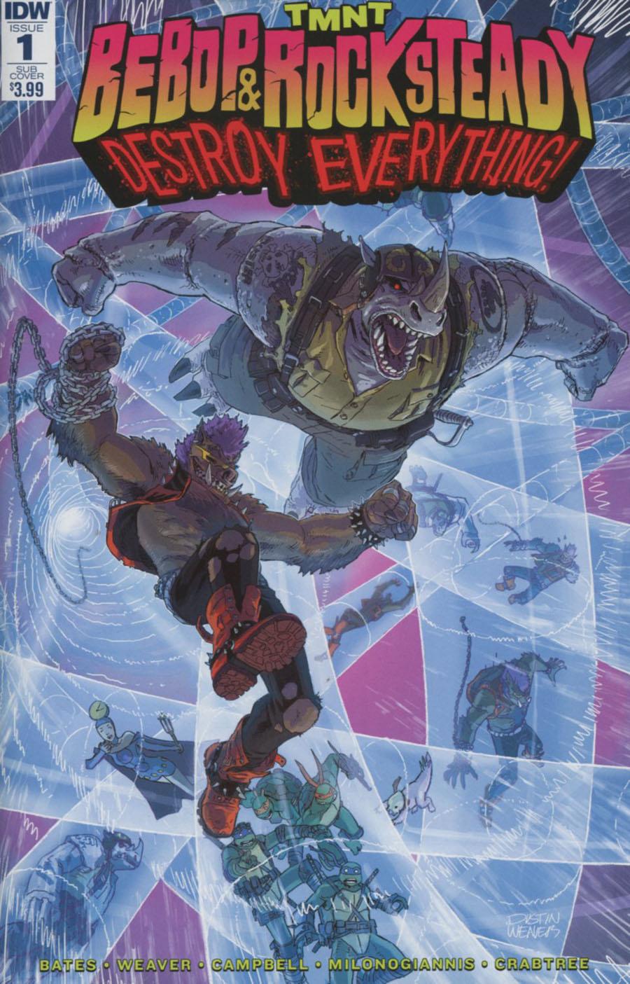 Teenage Mutant Ninja Turtles Bebop & Rocksteady Destroy Everything #1 Cover B Variant Dustin Weaver Subscription Cover