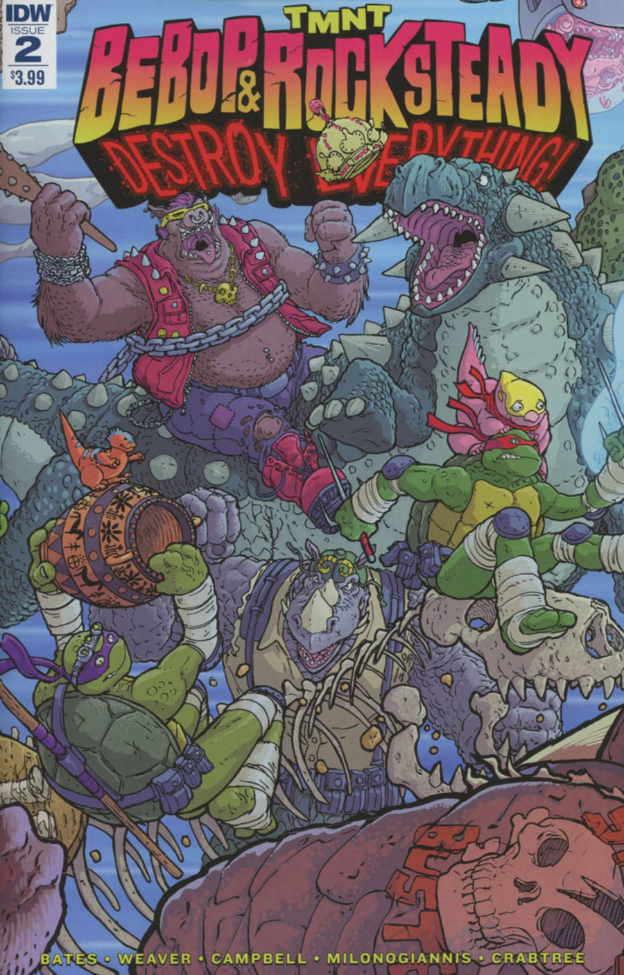 Teenage Mutant Ninja Turtles Bebop & Rocksteady Destroy Everything #2 Cover A Regular Nick Pitarra Cover