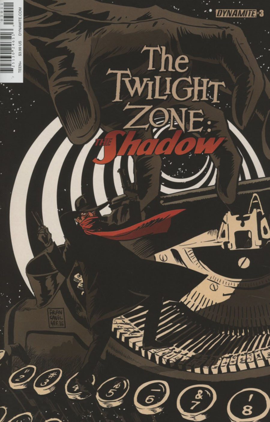 Twilight Zone Shadow #3 Cover A Regular Francesco Francavilla Cover