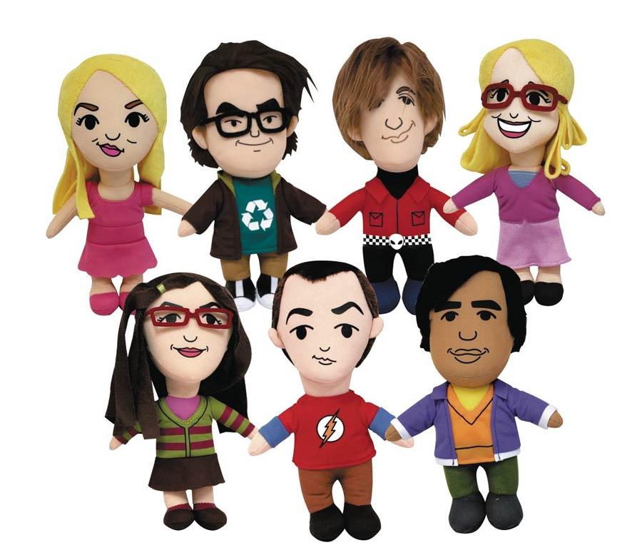 Big Bang Theory 6-Inch Plush With Sound - Sheldon Cooper Flash T-Shirt