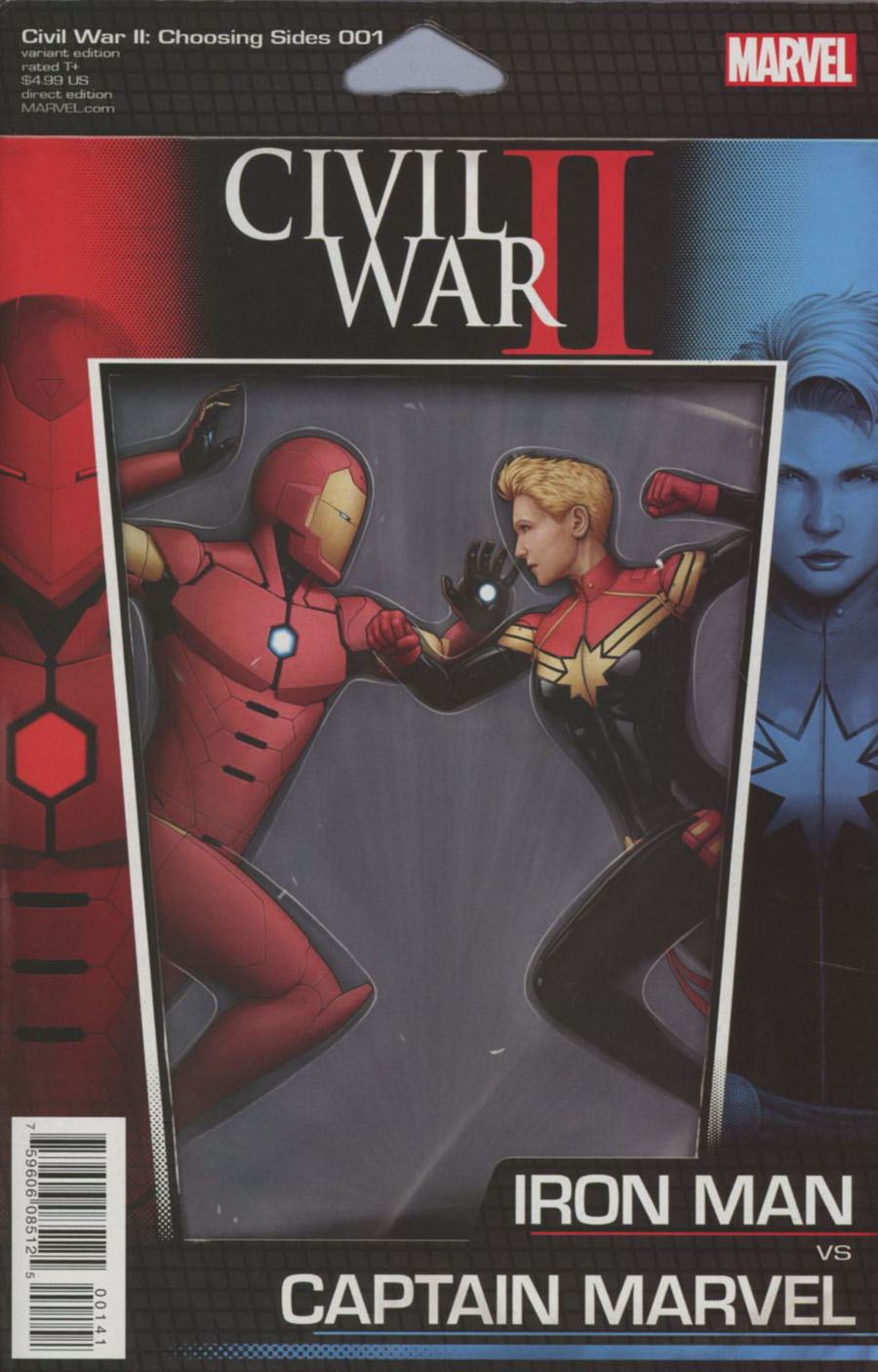 Civil War II Choosing Sides #1 Cover C Variant John Tyler Christopher Action Figure Cover
