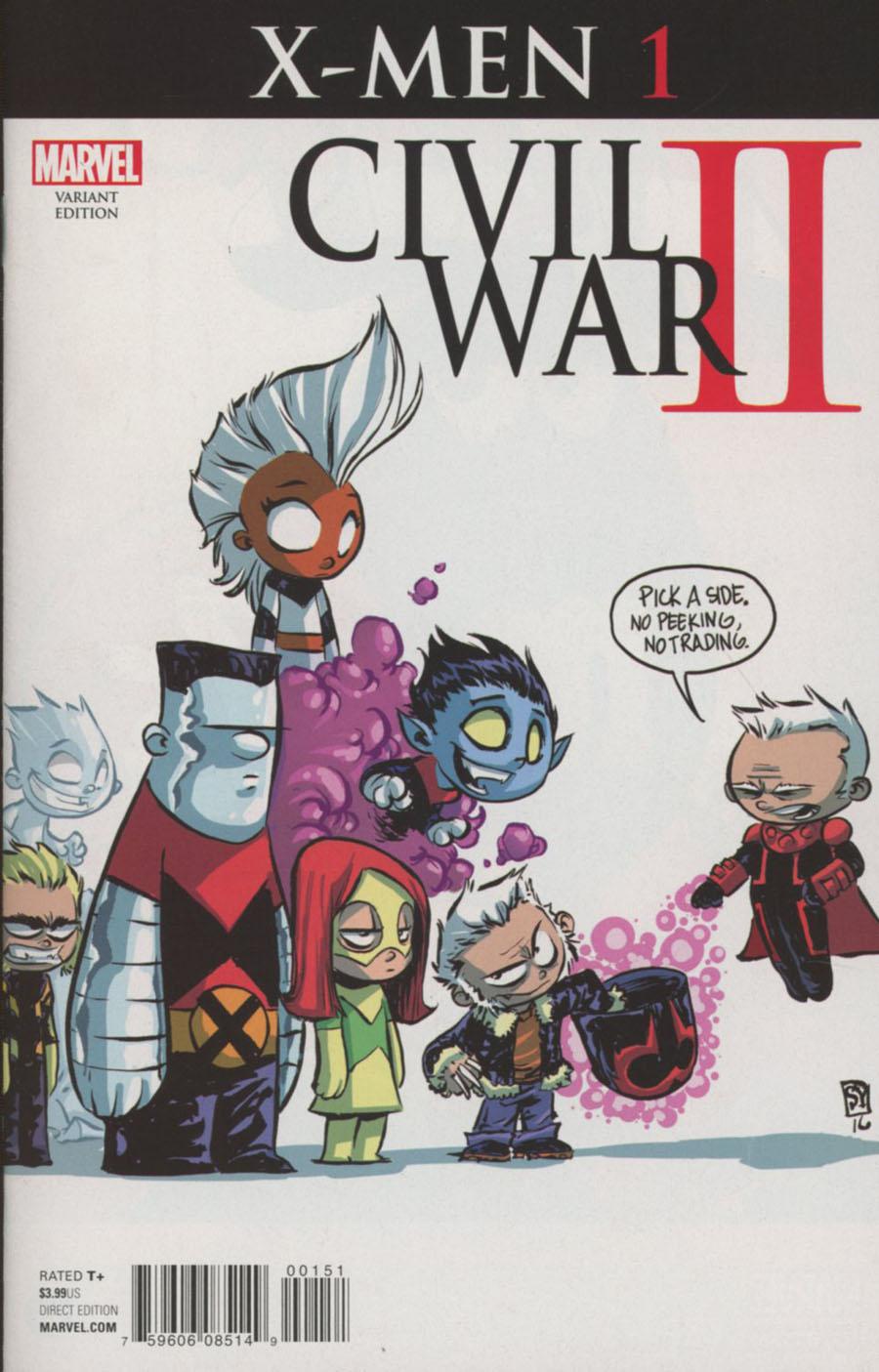 Civil War II X-Men #1 Cover D Variant Skottie Young Baby Cover