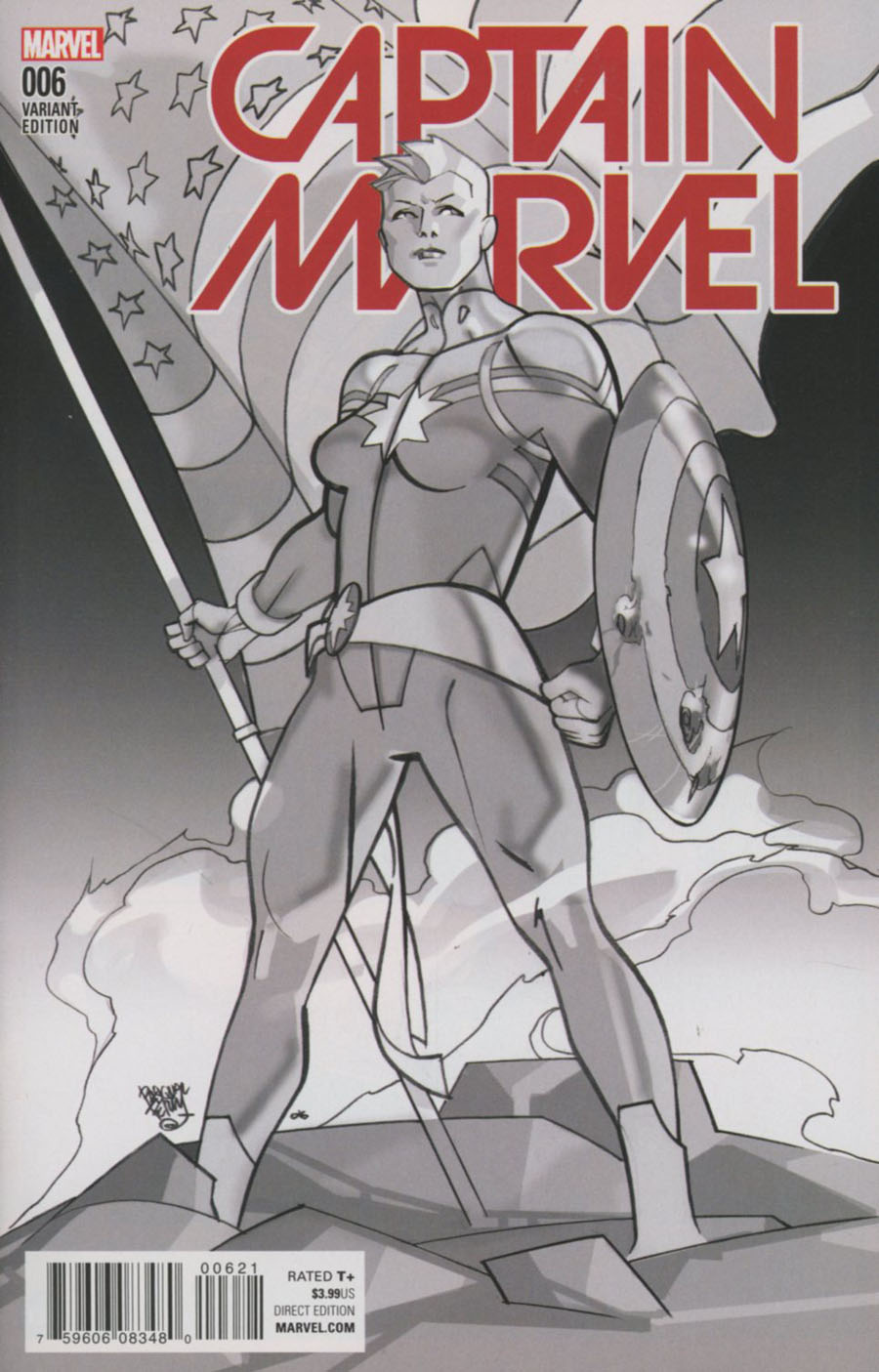 Captain Marvel Vol 8 #6 Cover B Variant Civil War Reenactment Cover (Civil War II Tie-In)