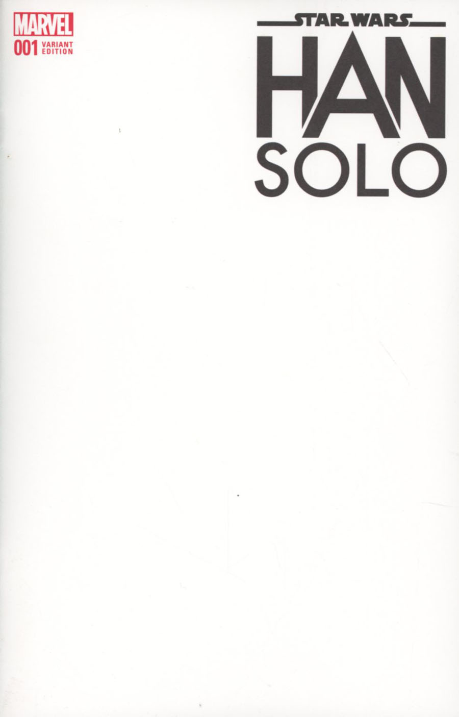 Star Wars Han Solo #1 Cover C Variant Blank Cover