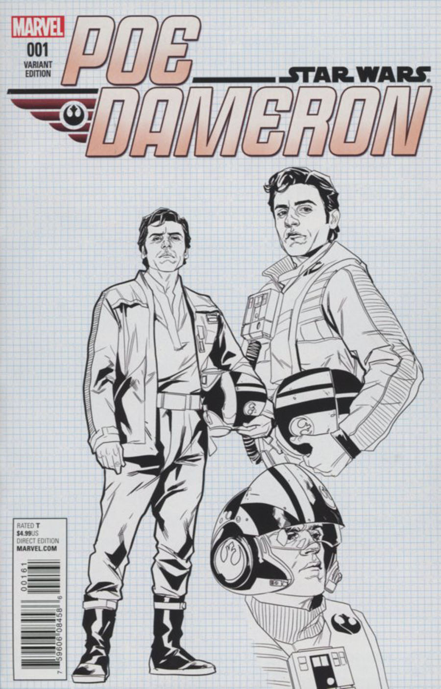 Star Wars Poe Dameron #1 Cover G Incentive Phil Noto Design Variant Cover