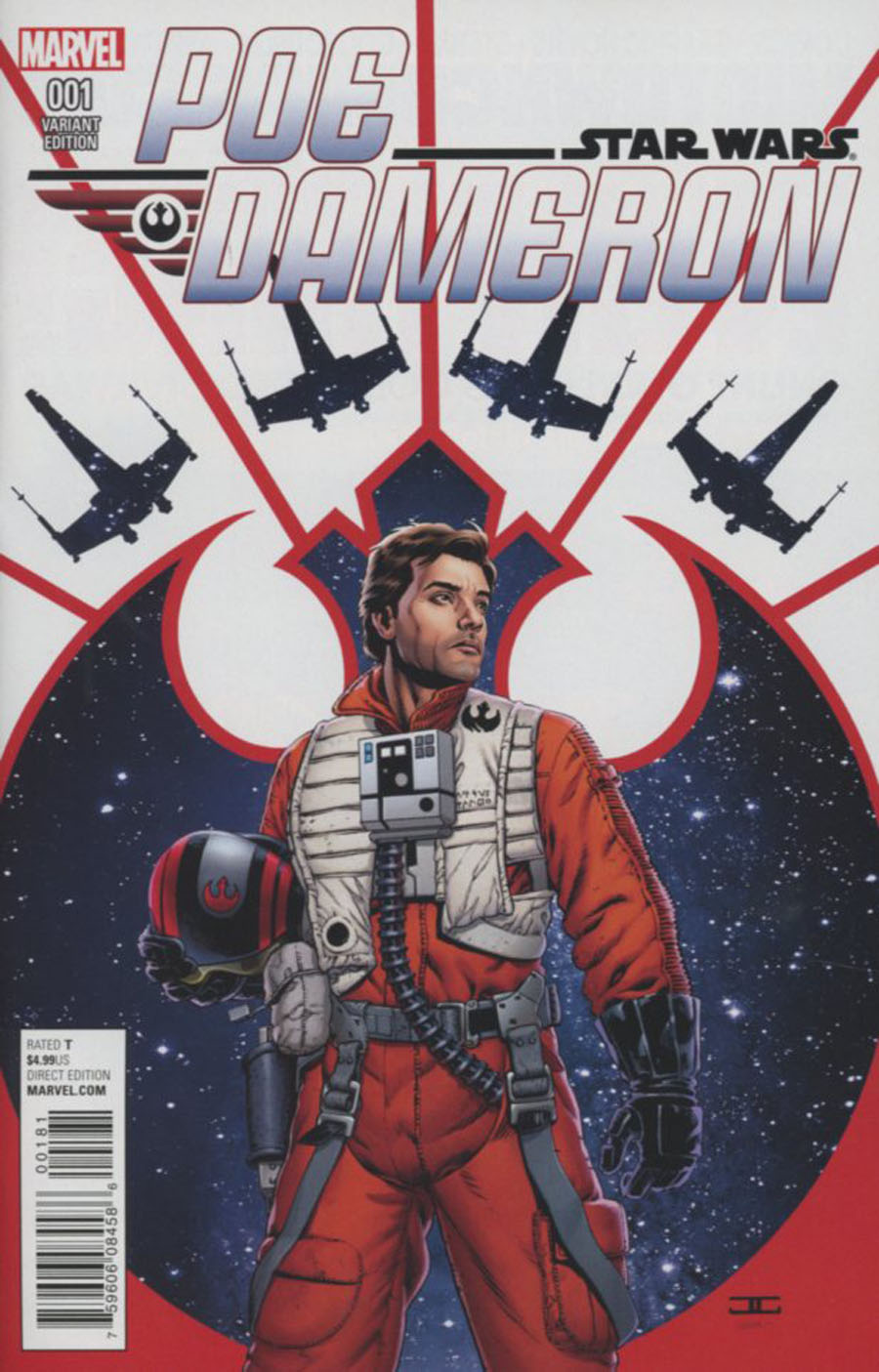 Star Wars Poe Dameron #1 Cover H Incentive John Cassaday Color Variant Cover