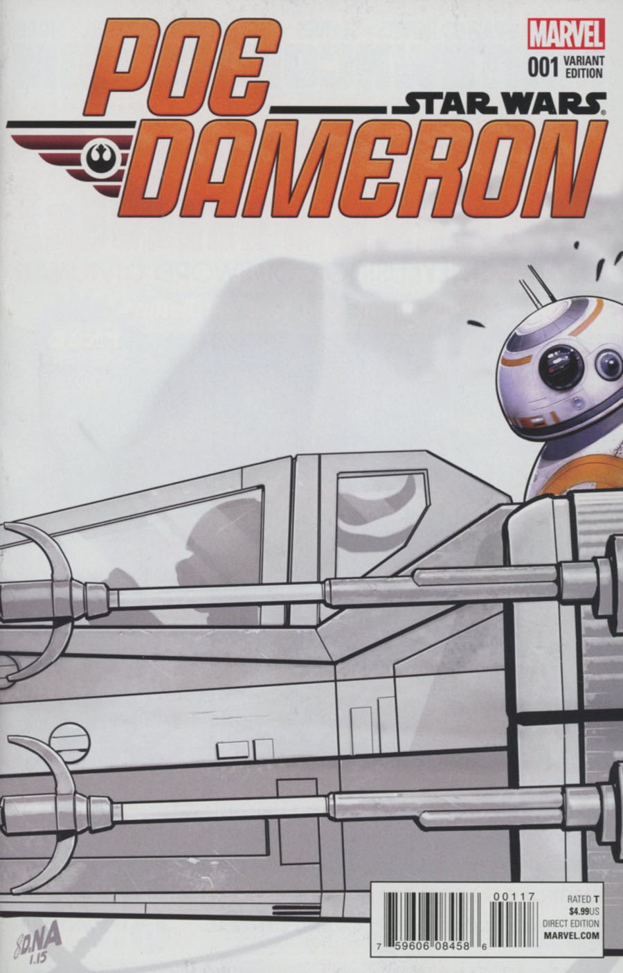 Star Wars Poe Dameron #1 Cover L Incentive Celebration Sketch Cover