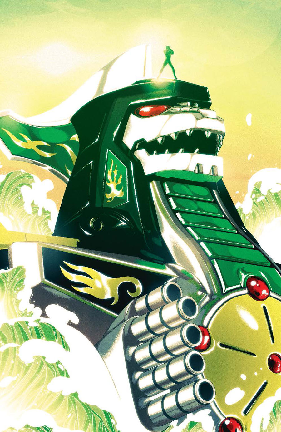 Mighty Morphin Power Rangers (BOOM Studios) #2 Cover D Incentive Goni Montes Zord Virgin Variant Cover