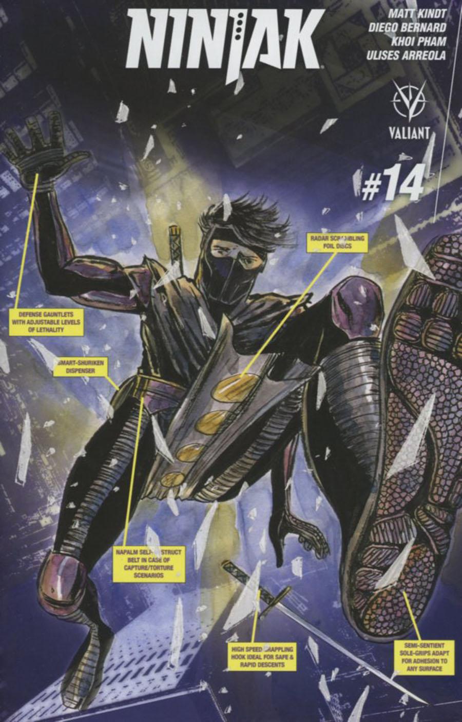 Ninjak Vol 3 #14 Cover F Incentive Matt Kindt Variant Cover