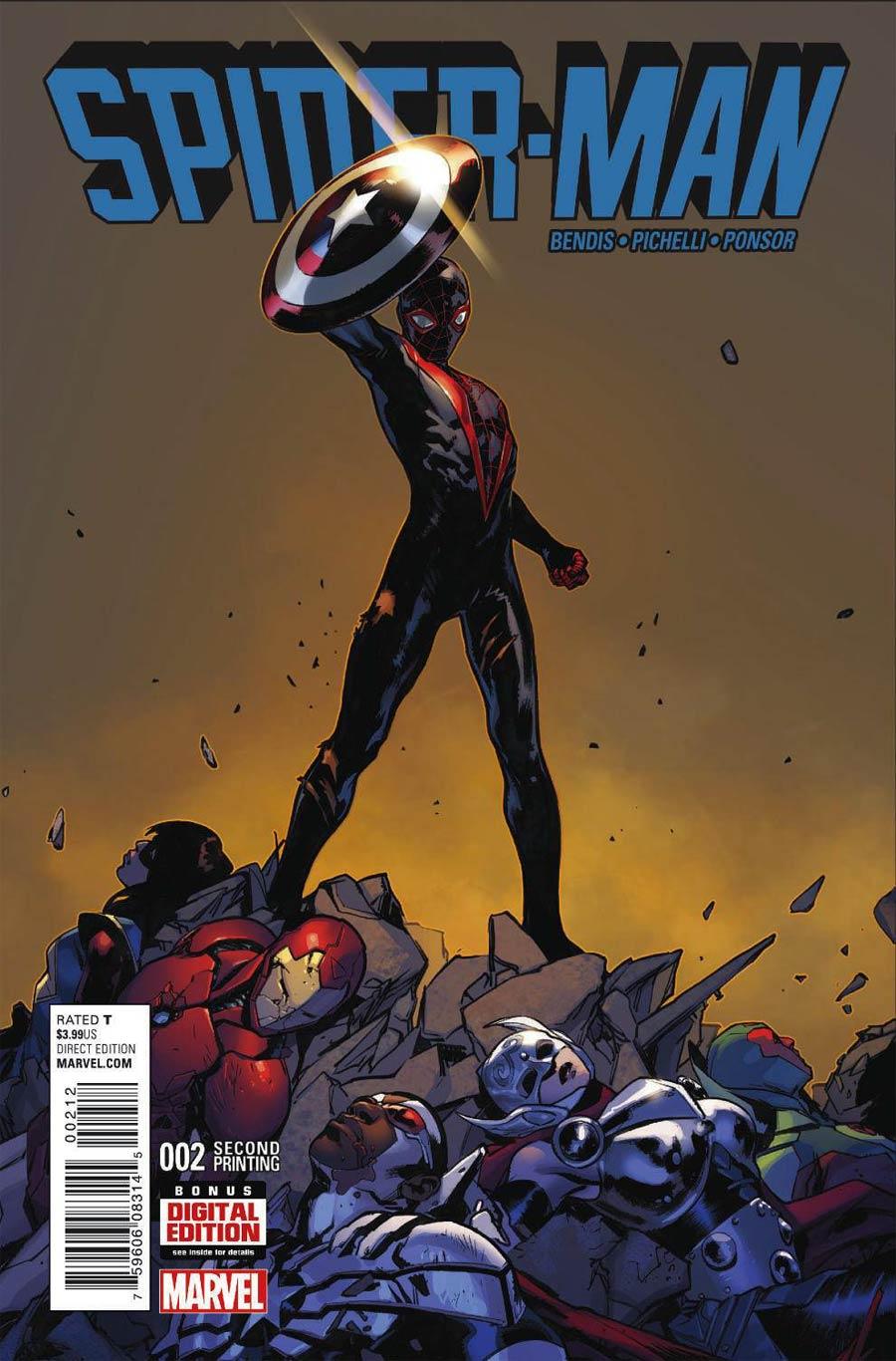 Spider-Man Vol 2 #2 Cover D 2nd Ptg Sara Pichelli Variant Cover
