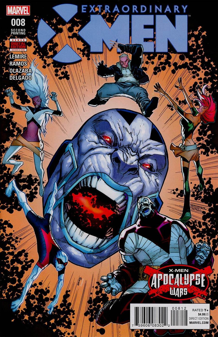 Extraordinary X-Men #8 Cover F 2nd Ptg Humberto Ramos Variant Cover (X-Men Apocalypse Wars Tie-In)