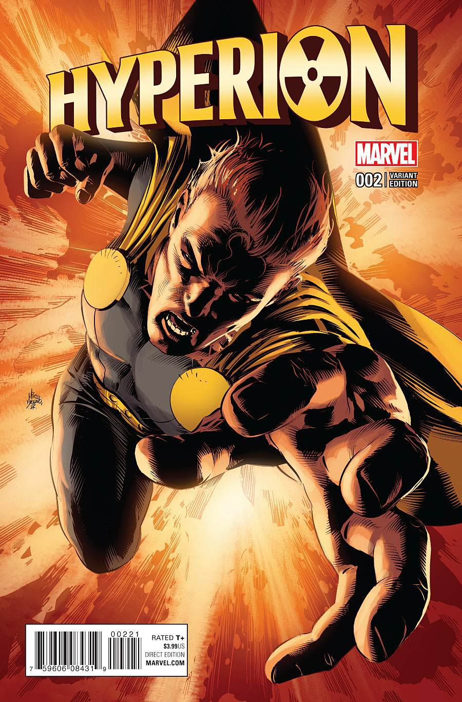 Hyperion #2 Cover B Incentive Mike Deodato Jr Variant Cover