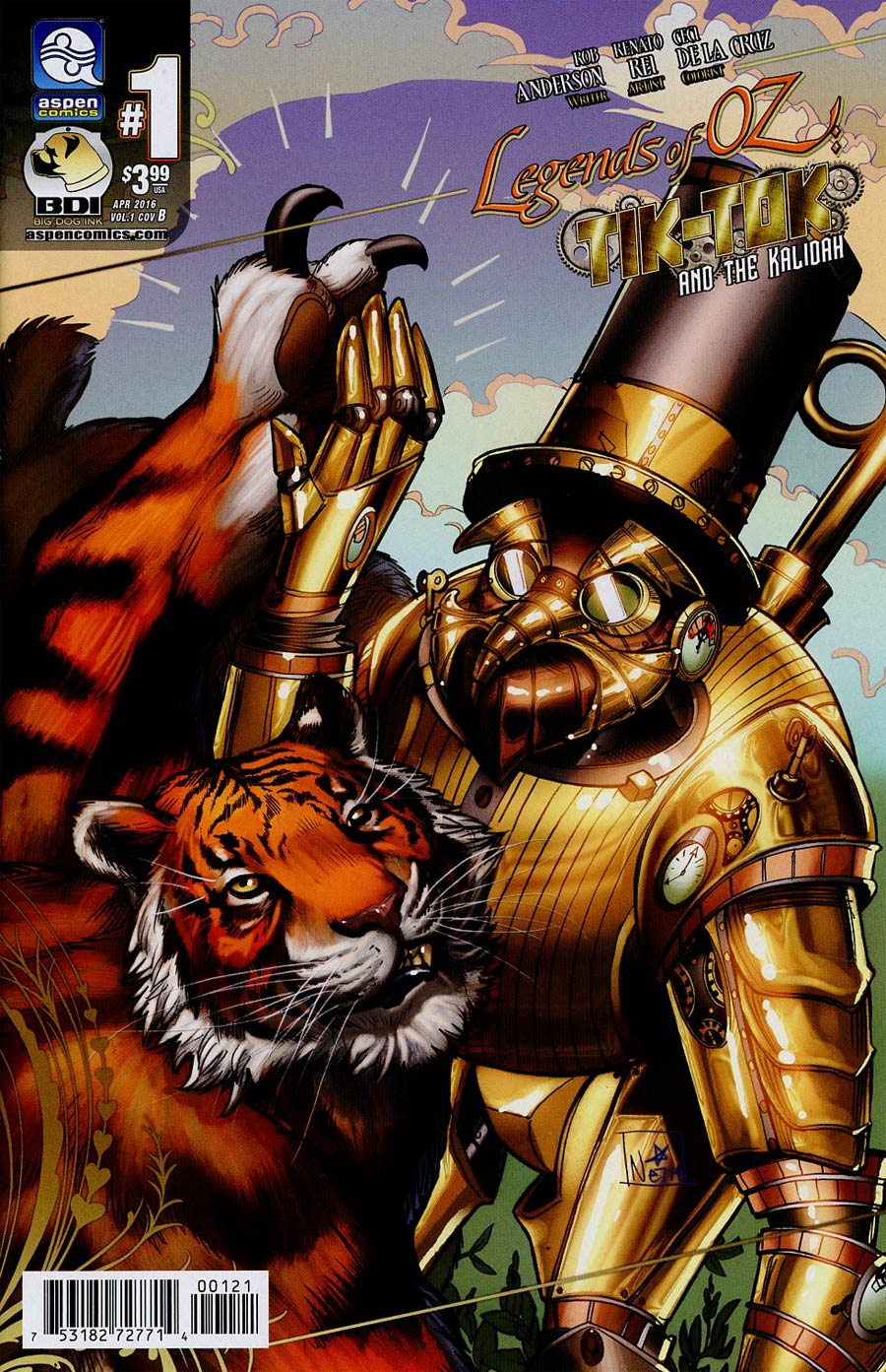 Legends Of Oz Tik-Tok And The Kalidah #1 Cover B Incentive Nei Ruffino Variant Cover