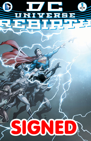 DC Universe Rebirth Special #1 Cover E DF Gold Signature Series Signed By Ethan Van Sciver