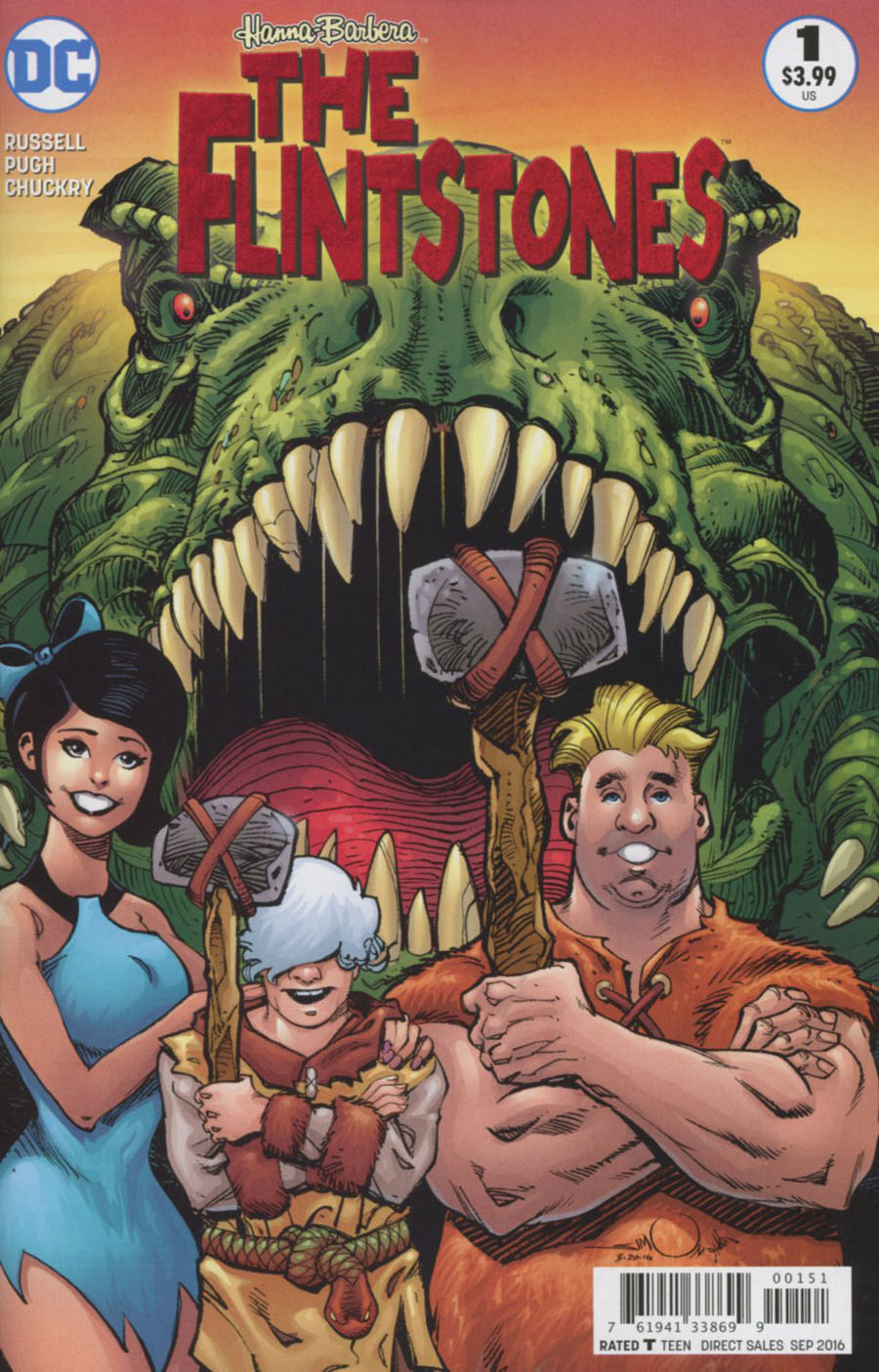 Flintstones (DC) #1 Cover C Variant Walter Simonson Barney & Betty Cover