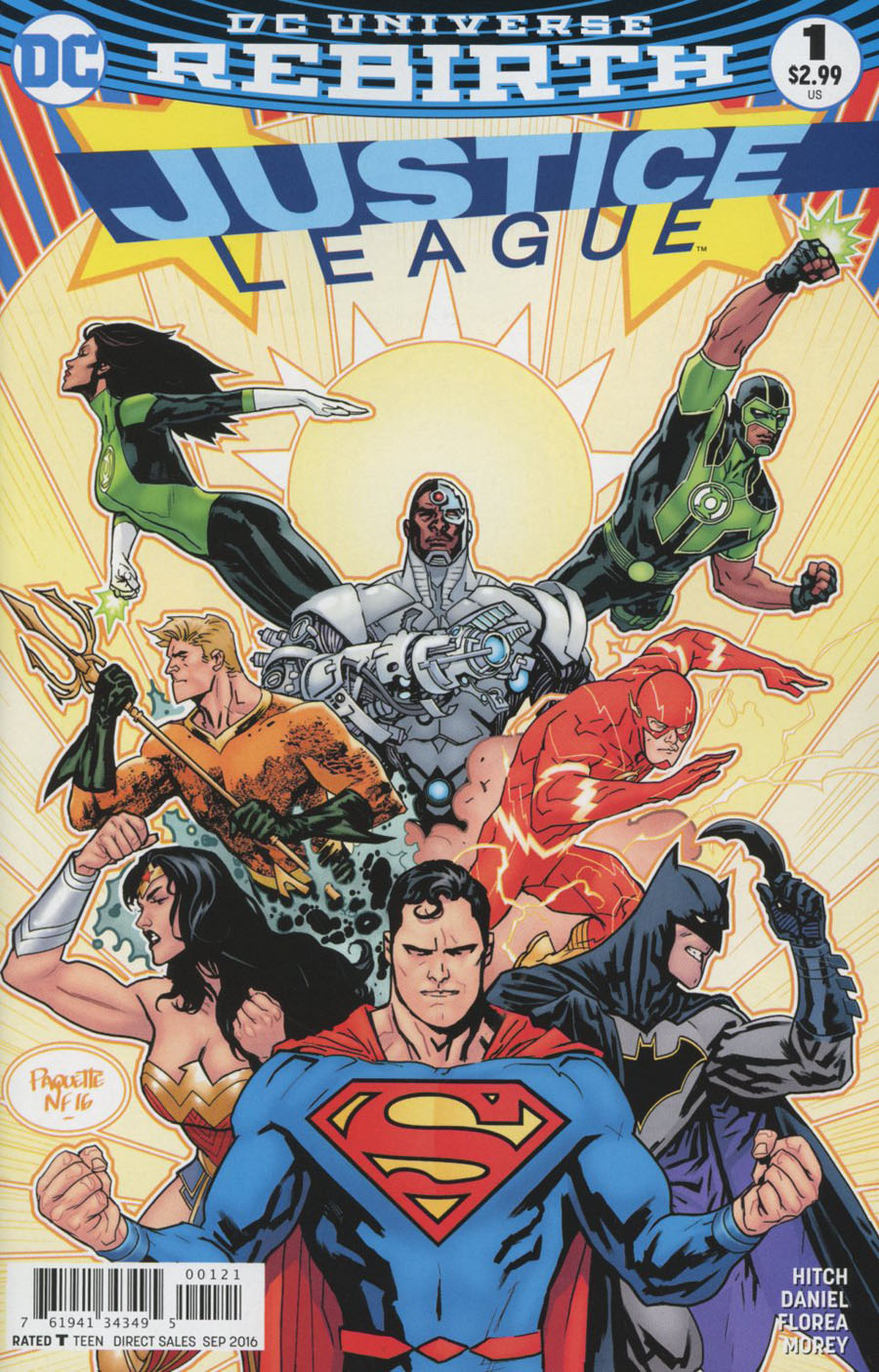 Justice League Vol 3 #1 Cover D Variant Yanick Paquette Cover