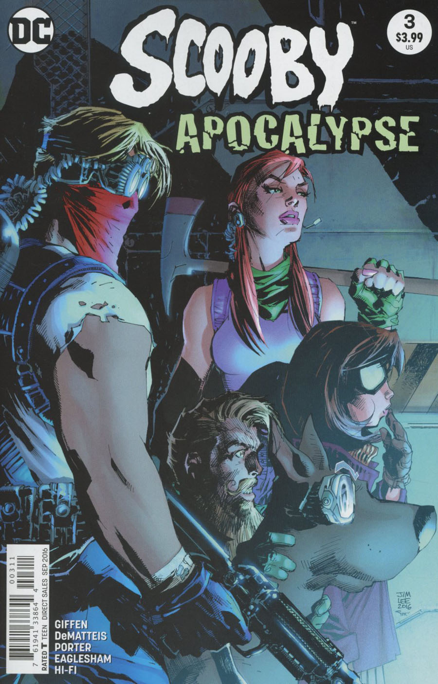 Scooby Apocalypse #3 Cover A Regular Jim Lee Cover