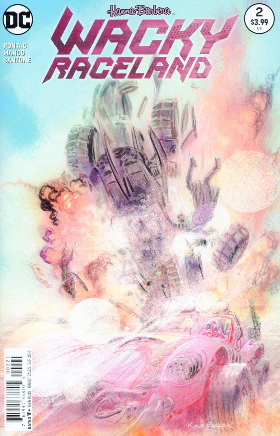 Wacky Raceland #2 Cover B Variant Kyle Baker Cover