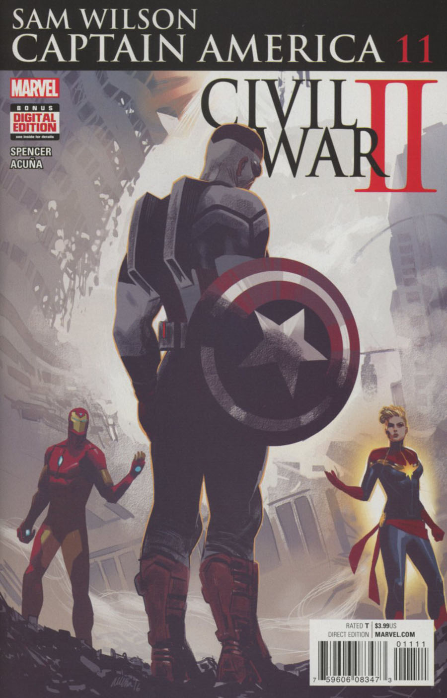 Captain America Sam Wilson #11 (Civil War II Tie-In)