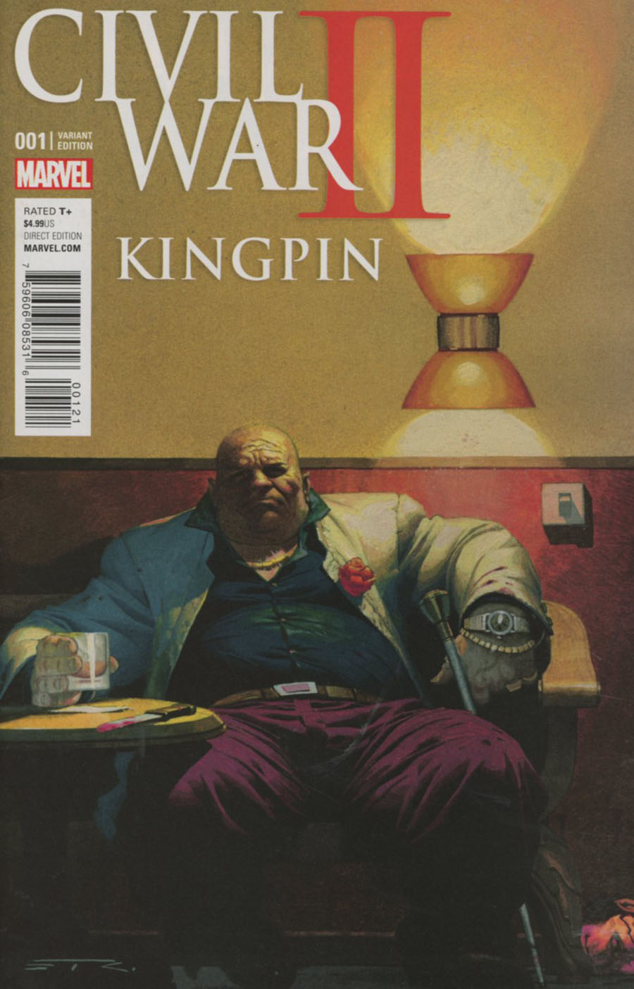 Civil War II Kingpin #1 Cover B Variant Esad Ribic Cover