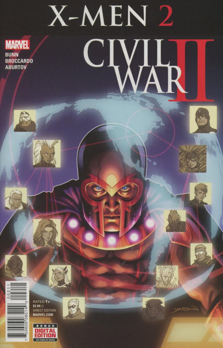 Civil War II X-Men #2 Cover A Regular David Yardin Cover