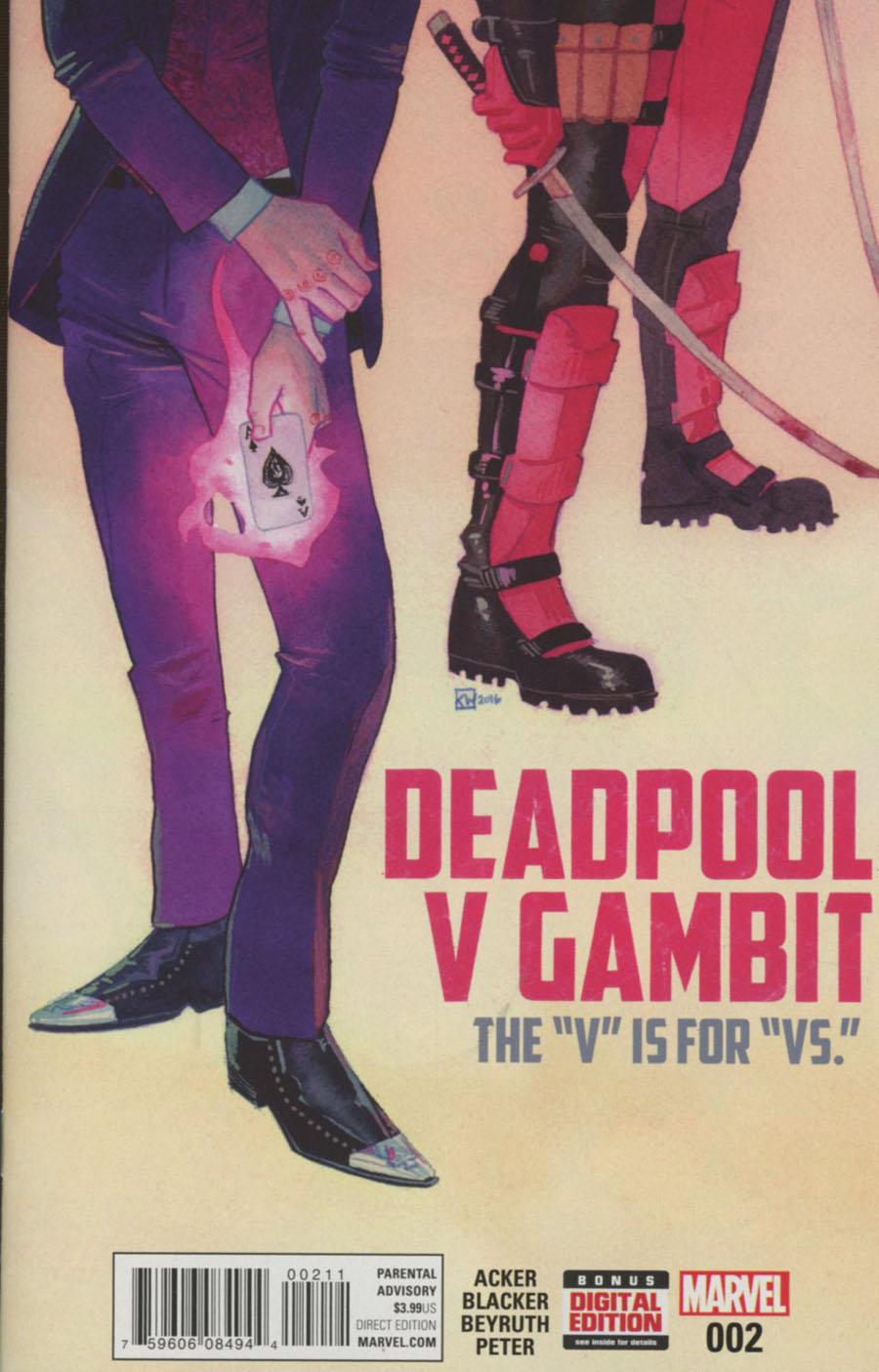 Deadpool v Gambit #2 Cover A Regular Kevin P Wada Cover