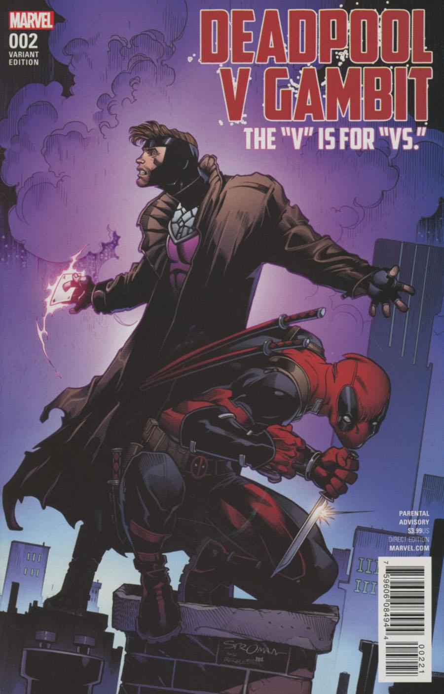 Deadpool v Gambit #2 Cover B Variant Larry Stroman Cover