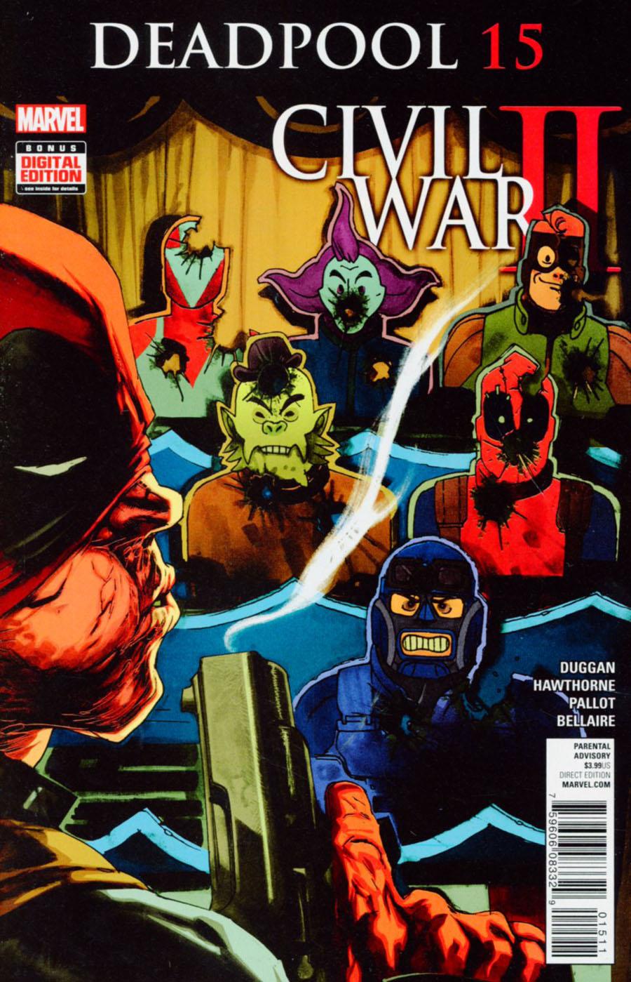 Deadpool Vol 5 #15 Cover A Regular Rafael Albuquerque Cover (Civil War II Tie-In)