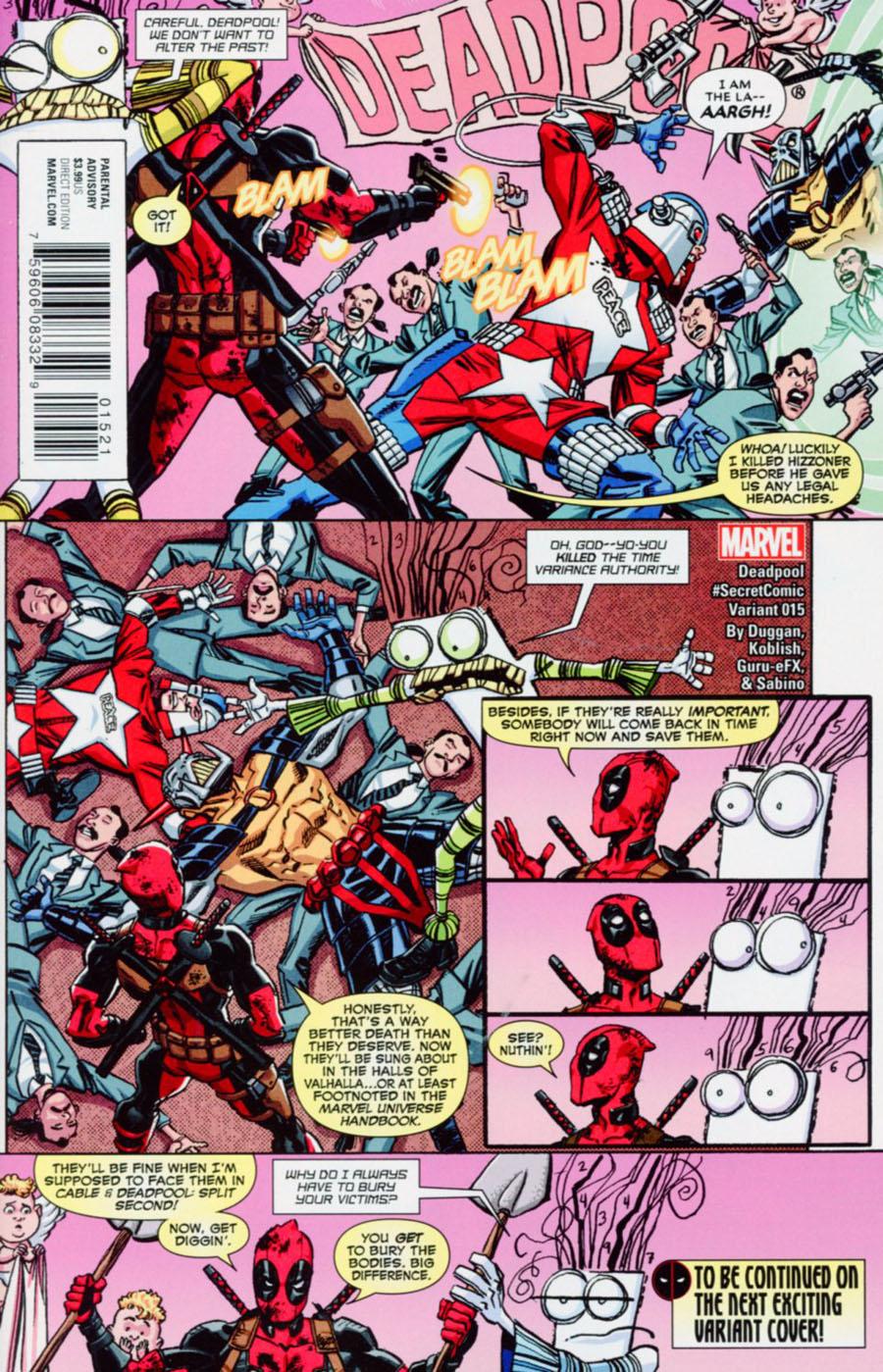 Deadpool Vol 5 #15 Cover B Variant Scott Koblish Secret Comic Cover (Civil War II Tie-In)
