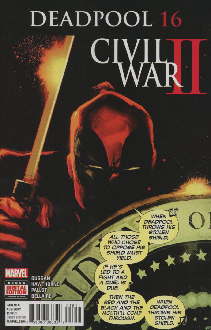Deadpool Vol 5 #16 Cover A Regular Rafael Albuquerque Cover (Civil War II Tie-In)