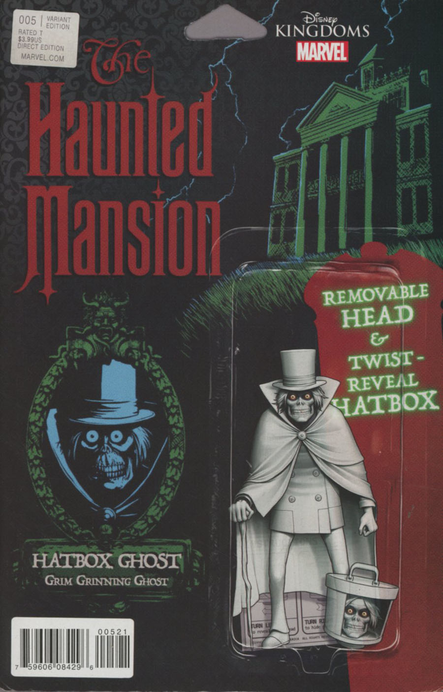 Disney Kingdoms Haunted Mansion #5 Cover B Variant John Tyler Christopher Action Figure Cover