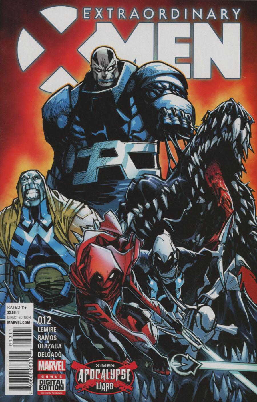 Extraordinary X-Men #12 Cover A Regular Humberto Ramos Cover (X-Men Apocalypse Wars Tie-In)