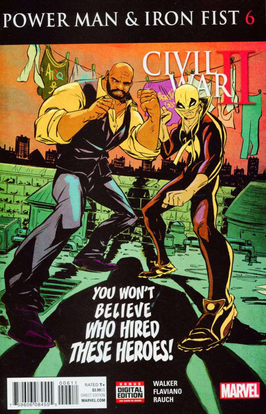 Power Man And Iron Fist Vol 3 #6 Cover A Regular Sanford Greene Cover (Civil War II Tie-In)