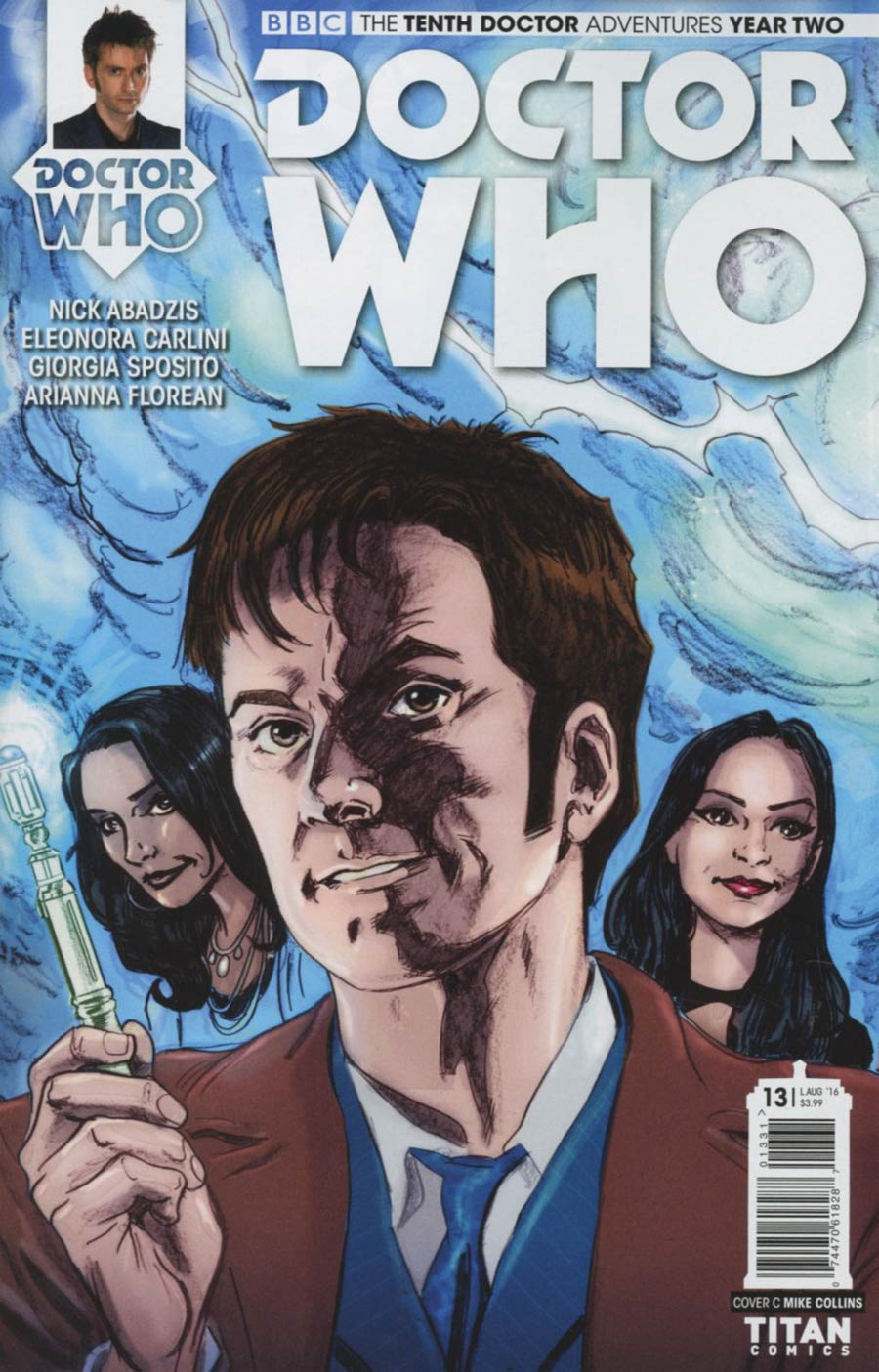 Doctor Who 10th Doctor Year Two #13 Cover C Variant Mike Collins Connecting Cover