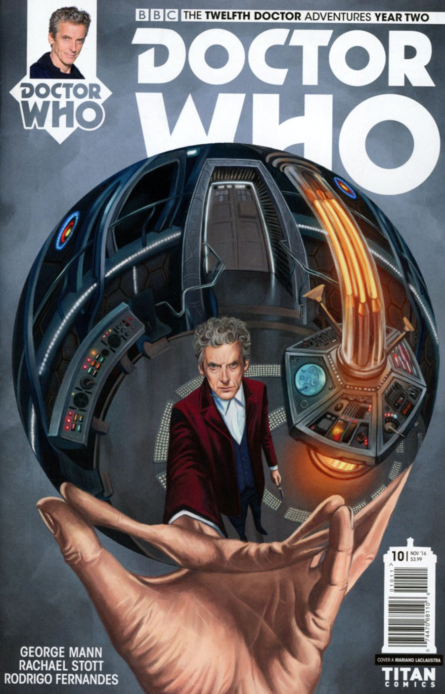 Doctor Who 12th Doctor Year Two #10 Cover A Regular Mariano Laclaustra Cover