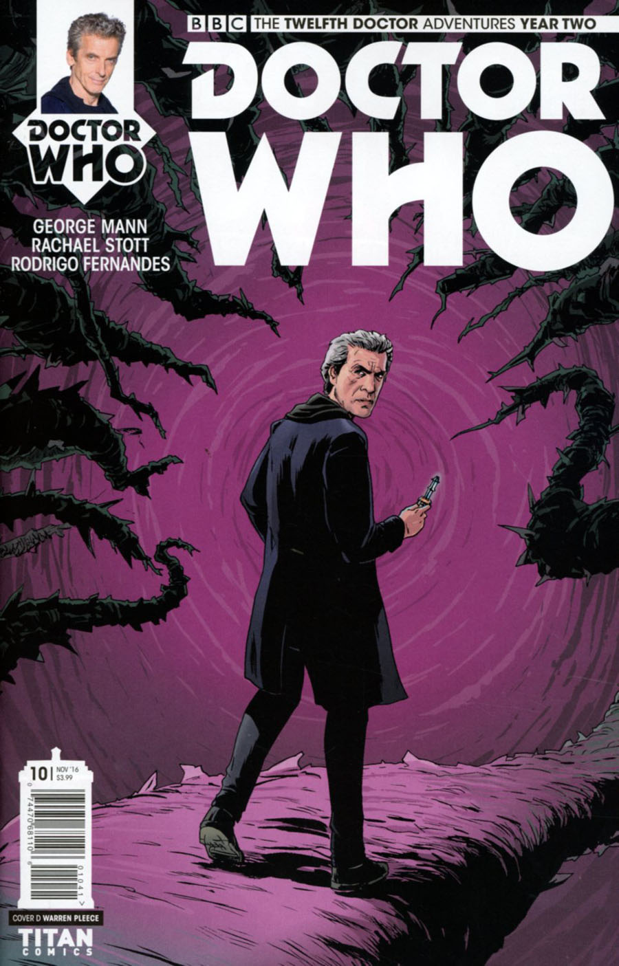 Doctor Who 12th Doctor Year Two #10 Cover D Variant Warren Pleece Cover