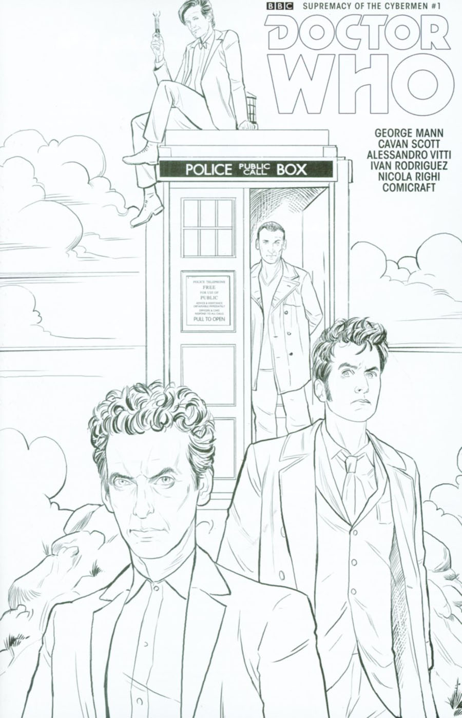 Doctor Who Event 2016 Supremacy Of The Cybermen #1 Cover D Variant Mariano Laclaustra Adult Coloring Book Cover
