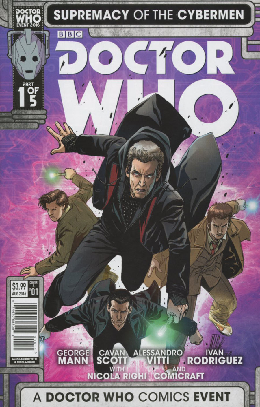 Doctor Who Event 2016 Supremacy Of The Cybermen #1 Cover A Regular Alessandro Vitti Cover