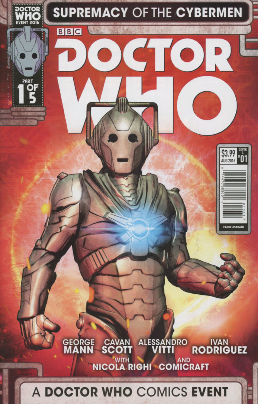 Doctor Who Event 2016 Supremacy Of The Cybermen #1 Cover C Variant Fabio Listrani Cover