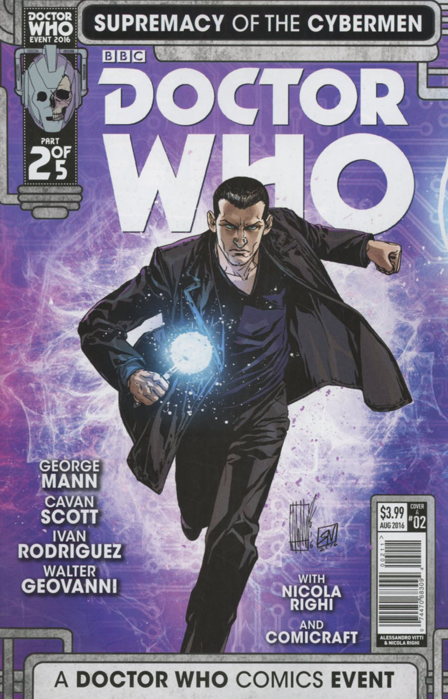 Doctor Who Event 2016 Supremacy Of The Cybermen #2 Cover A Regular Alessandro Vitti Cover