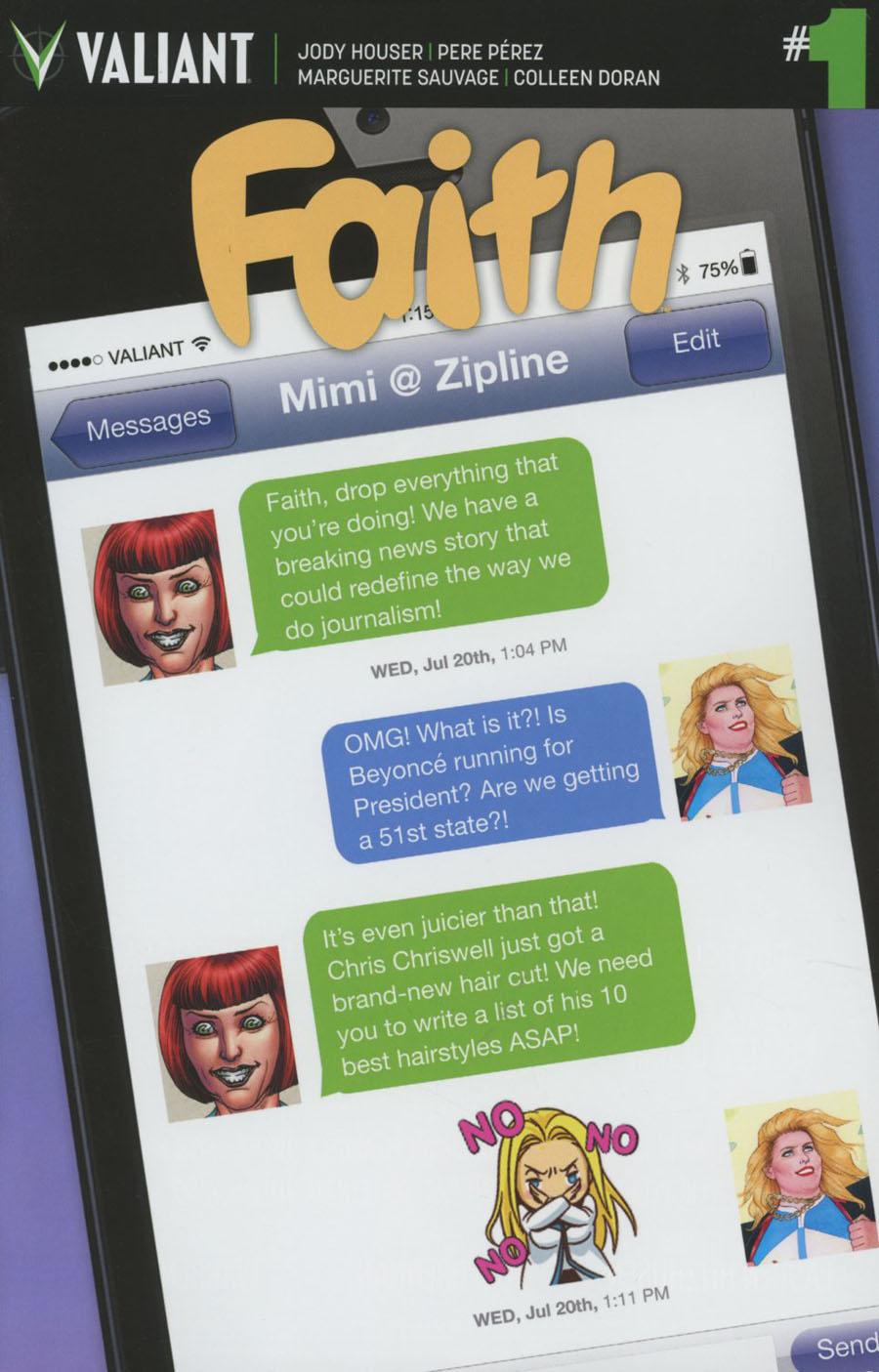 Faith (Valiant Entertainment) Vol 2 #1 Cover F Variant Swyft Media Valiant Emoji Cover