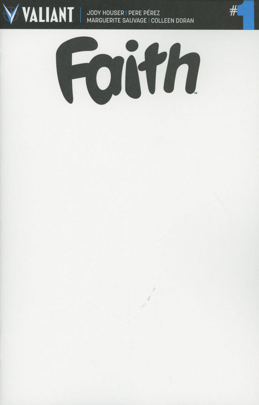 Faith (Valiant Entertainment) Vol 2 #1 Cover G Variant Blank Cover