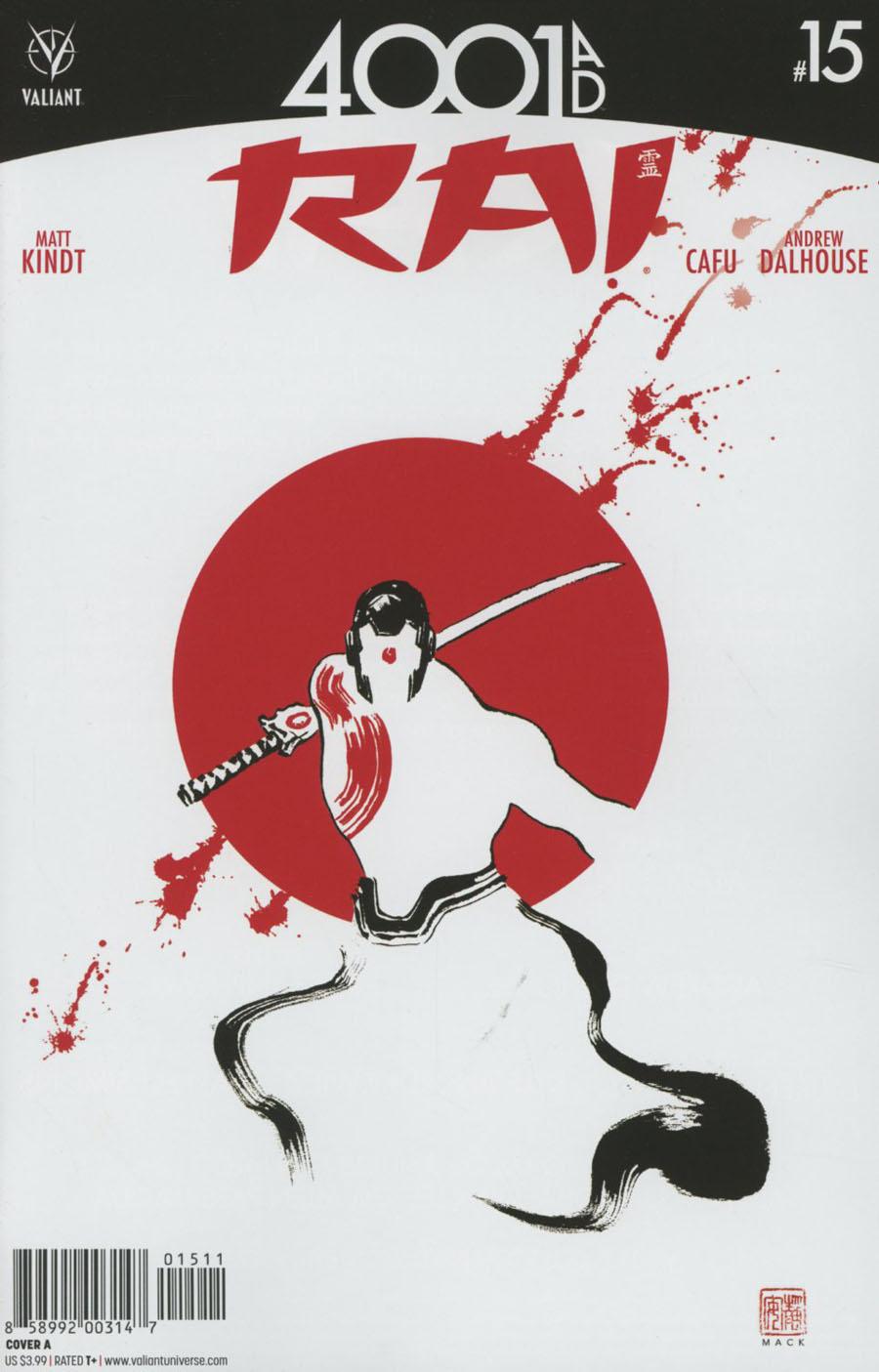 Rai Vol 2 #15 Cover A Regular David Mack Cover (4001 AD Tie-In)