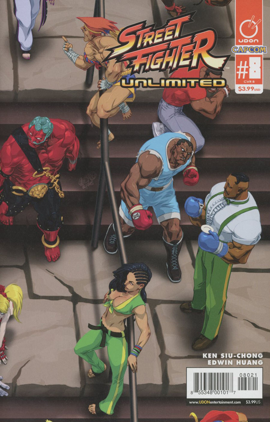 Street Fighter Unlimited #8 Cover B Variant Jeffrey Chamba Cruz Ultra Jam Puzzle Cover