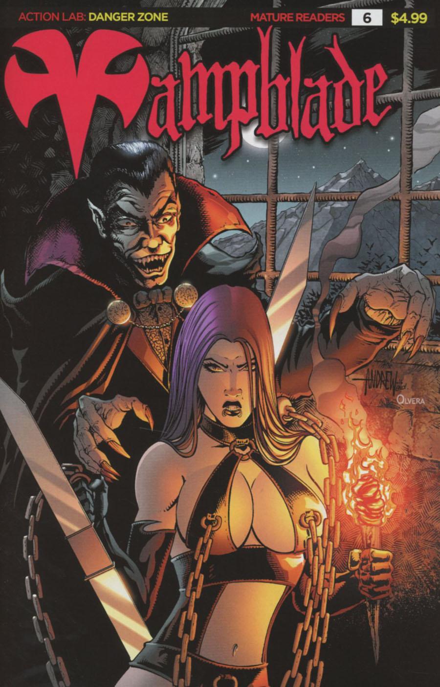 Vampblade #6 Cover E Variant Andrew Mangum 90s Monster Cover